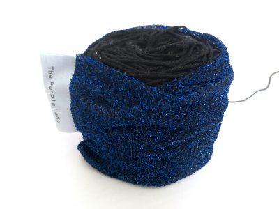 Yarn Sleeve Kobalt Glitter