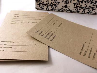 Projectkaarten Sokken