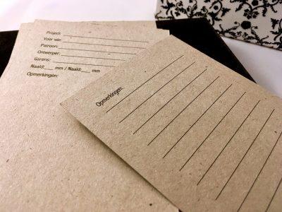 Projectkaarten Standaard