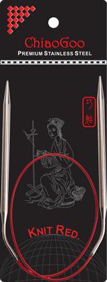 ChiaoGoo Knit RED Rondbreinaald 100cm 2.5mm