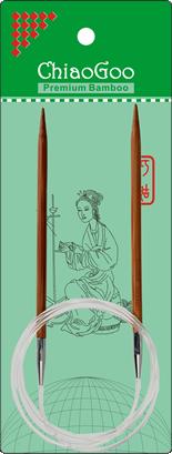 ChiaoGoo Bamboo Rondbreinaald 100cm maten 2-2.25
