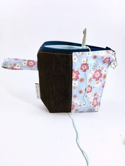Mini Projecttas – Jeans & Flowers