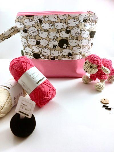 Schaapje CAL Pakket – Roze incl. Tas