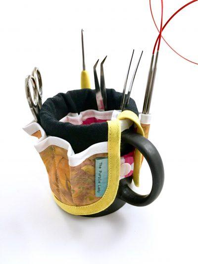 Gereserveerd voor Jopie: Mug Organizer Geel & Roze