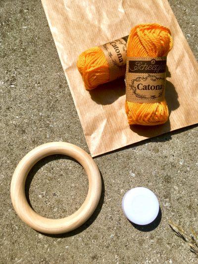 DIY Pakket: Giraffe Rammelaar Oranje