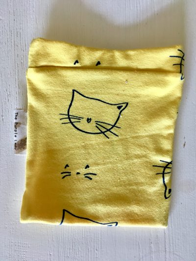 Yarn Sleeve Yellow Cats