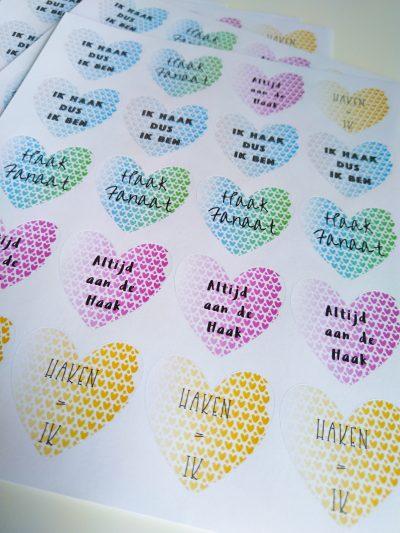 Stickers Thema Haken (Noem je Prijs!)